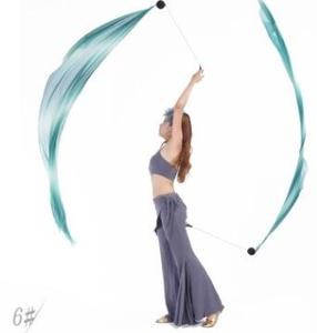 Image 4 - 2 قطعة الحجاب 2 قطعة POI سلسلة الكرة 2.0 متر * 0.7 متر متعدد الألوان الرقص الحجاب ملابس رقص البطن الإكسسوارات شحن مجاني