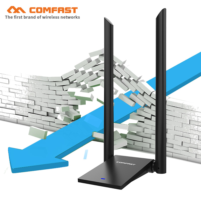 COMFAST 1300M 2.4G&5.8G Strong Wifi Signal Amplifier Wireless Adapter With 12dBi Antenna Wi Fi Usb3.0 Lan Ethernet Receiver Card