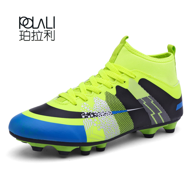 20857b330 POLALI Brand Soccer Boots\Shoes Sports For Man Indoor Football shoes\Boot  size 35-45 Eur 3 Color PU Boy Sneakers Men chuteiras