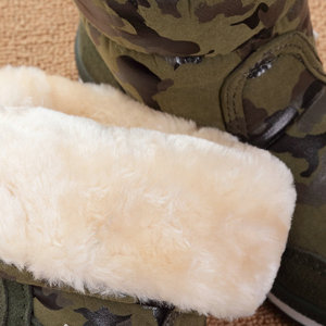 Image 5 - Giày Bé Trai Giày Ngụy Trang Mùa Đông Phong Cách Đầy Plus Size 27 Đến 41 Tuyết Giày Chống Trượt Đế Nhiệt Trẻ Em Lông Dày Dặn miễn Phí Vận Chuyển