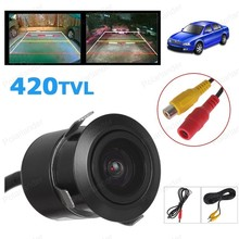 4.3 inch Color LCD Car Monitor with 2 VA input auto switching video  + 18.5 mm reverse parking camer