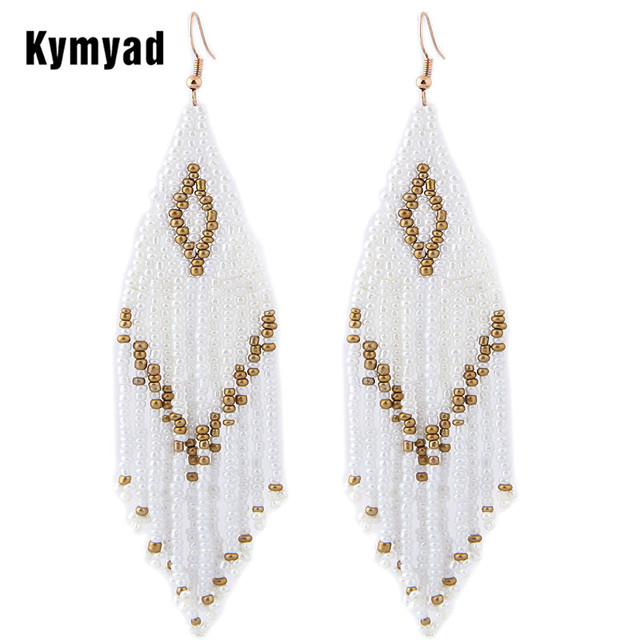Kymyad богемные серьги 2019 Бусы Длинные серьги в этническом стиле серьги-капельки модные ювелирные изделия заявление Bijoux Femme серьги