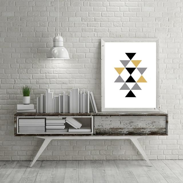 Acheter 3 couleurs triangle impression sur for Forme peinture