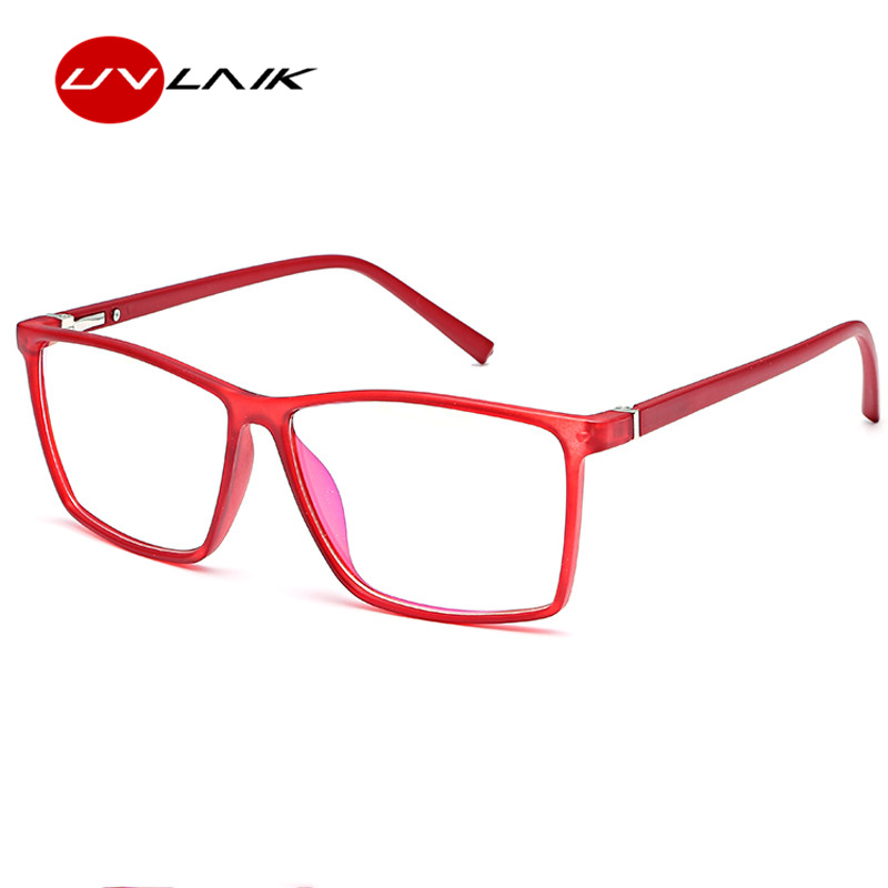 UVLAIK 2019 Women Glasses Frame Men Optical Eyeglasses Frame Vintage Square Clear Lens Glasses Black Blue Red Spectacle Frame