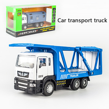 KIDAMI 1:50 car transport truck Engineering vehicle Alloy Pull Back Diecast Car Model Toy with sound light Gift toy for children