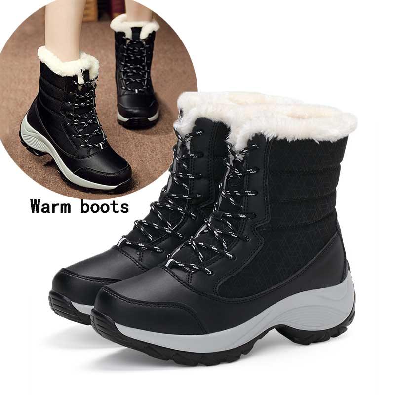Las mujeres Botas zapatos de invierno zapatos mujeres Botas para la nieve Botas Chaussure mujer mantener caliente tobillo invierno Botas de piel tacones Botas Zapatos planos de alpargatas para mujer, zapatillas blancas superligeras, mocasines de verano y otoño, chaissures, zapatos planos de cesta para mujer