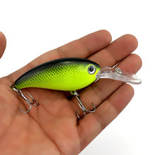 Hot Sell 14g 10cm Crankbait Wobblers Hard Fishing Tackle 1pcs Swim bait Crank Bait Bass Fishing Lures 7 Colors