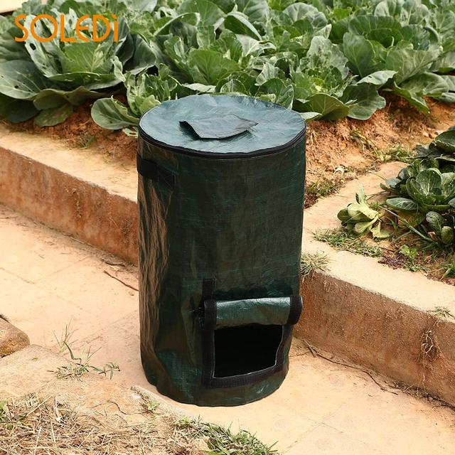 1pc Plastic 35 60cm Green Cultivation Garden Pots Planters Vegetable Planting Bags Grow