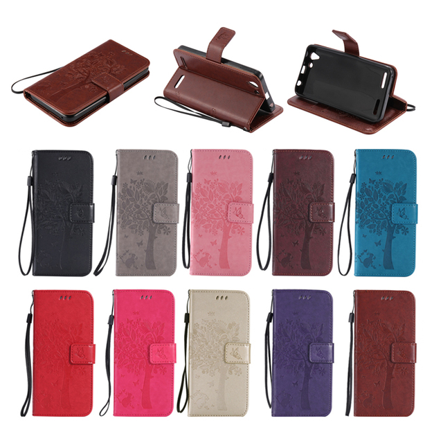 separation shoes b5577 f873d US $4.17 7% OFF|For Lenovo A6020a46 Flip Cover Tree and Cat Magnetic Wallet  Case Cover For Lenovo Vibe K5 Plus Case with Strap Fundas Capa Coque-in ...