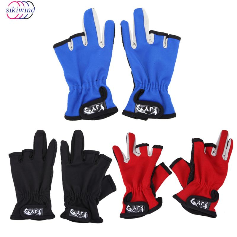 1 Pair Fishing Glove Anti Slip Fingerless Hunting Fishing Tackle Fingers Gloves Finger