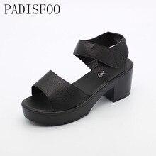 [Classic] Women Wedges Sandals Fashion Casual Platform Sandals Metal Decor Summer Shoes EU Size 35-41 Platform sandals.XL-21