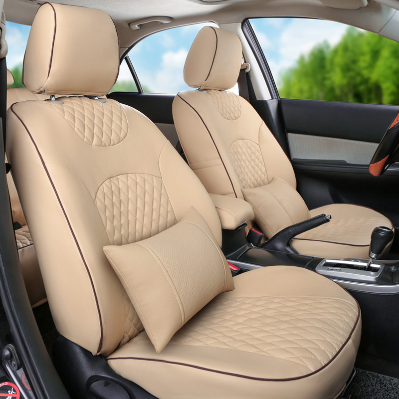 AutoDecorun PU Leather Seat Cover For Jeep Wrangler Jk Accessories - 2004 acura tl seat covers
