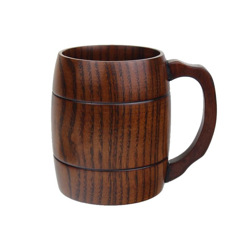 Индивидуальная пивная кружка с ручкой Деревянный Танкард ручной работы из древесина ююба пивной любовник должен иметь подарок бесплатная доставка