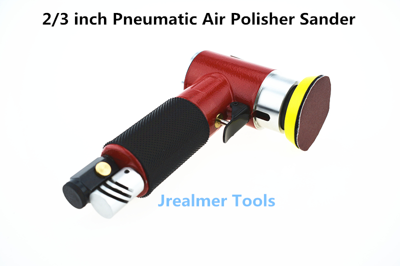 Jrealmer 2 Inches Pneumatic Air Polisher Sander Eccentric Polishing Machine Pneumatic Polisher Tool 4 inch disc type pneumatic polishing machine 100mm pneumatic sander sand machine bd 0145