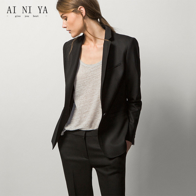 New Formal Office Uniform Black Designs Women Pant Suits Elegant Las Business Female 2