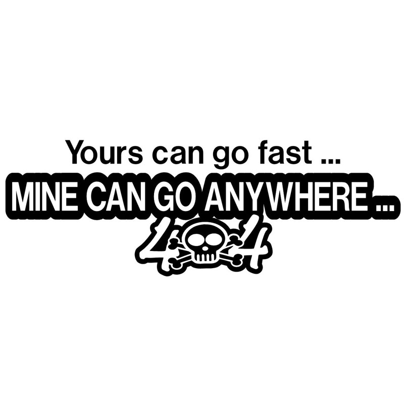 16.8cm*5.8cm <font><b>4x4</b></font> GO ANYWHERE <font><b>Off</b></font> <font><b>Road</b></font> Fashion Motorcycle Car <font><b>Sticker</b></font> Black/Silver S6-3569 image
