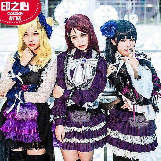 Люблю жить солнце Aqours Guilty поцелуй охара Mari Есик Рико sakurauchi рок концерт карнавальный костюм женский платье Рождество
