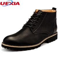 New Short Martin Boots Young Men S Round Head Leather Chelsea Casual Oxfords Men Shoes Business