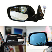 Texture Black Automatic Folding Power Heated Turn Signal Original Replacement Side View Mirror For Toyota Camry 2006 2011