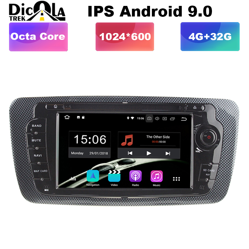 4G RAM 32G Android 9 0 Radio GPS HDMI Car DVD Player for Seat Ibiza MK4