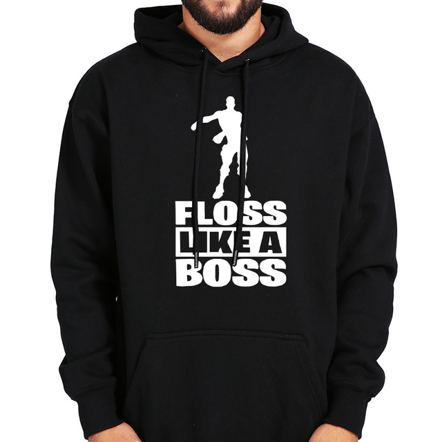 c8df265e72f7 Floss Like A Boss Hoodie Men Funny Dance Graphic Print Hooded Winter Casual  Pullover Thick Loose Male Hoodies Sweatshirt
