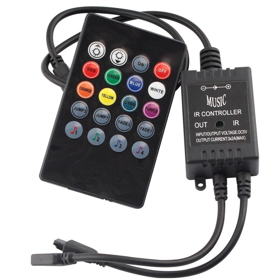 Mini controller RGB USB a 5 V LED RGB Strip a 3 tasti
