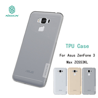 For Asus ZenFone 3 Max ZC553KL Case NILLKIN Nature Clear TPU Transparent Soft Back Cover Case