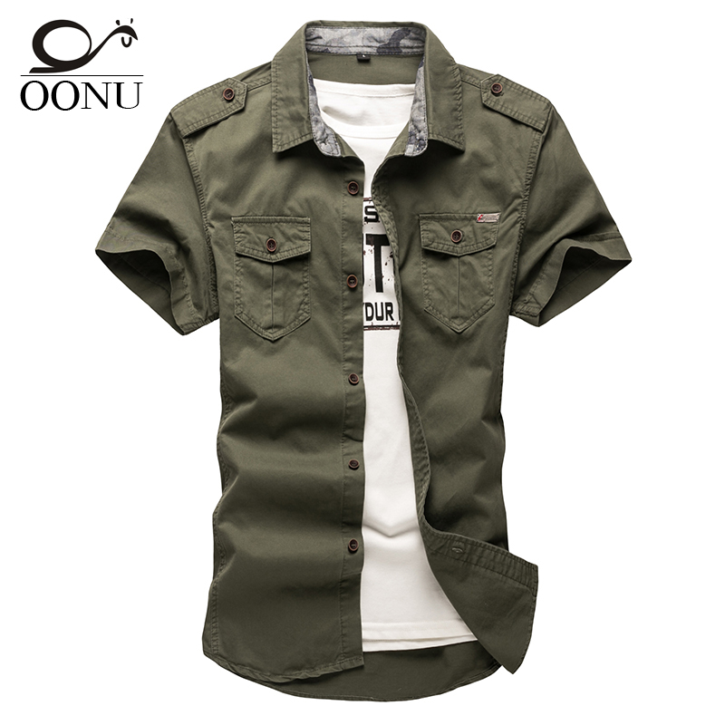 Oonu cotton short sleeve shirts for mens short sleeve plus for Men s fashion short sleeve shirts