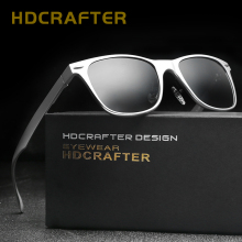 HDCRAFTER Retro Men's Polarized Sunglasses Square Sun Glasses Driving Glasses Fashion Male Vintage Sun Glasses UV400