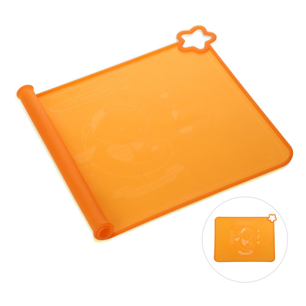 cute stone BPA Free Silicone Baby Placemats with Raised Edge Non Slip Surface Waterproof Portable Dishwasher Safe for 6M+ Infant