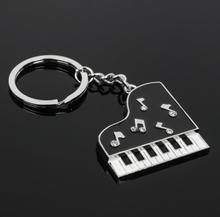 Kreatywny fortepian metalowy brelok do kluczy Instrument muzyczny breloki do kluczy brelok do kluczy brelok brelok samochodowy hurtownie 30 sztuk partia tanie tanio Moda Breloczki TRENDY Srebrny Ze stopu cynku Unisex keychain as the picture none