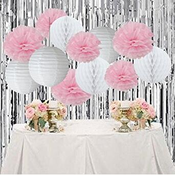 12pcs white pink pom pom flower tissue paper pompom balls paper 12pcs white pink pom pom flower tissue paper pompom balls paper flower wedding decoration bridal shower party room decor in artificial dried flowers from mightylinksfo
