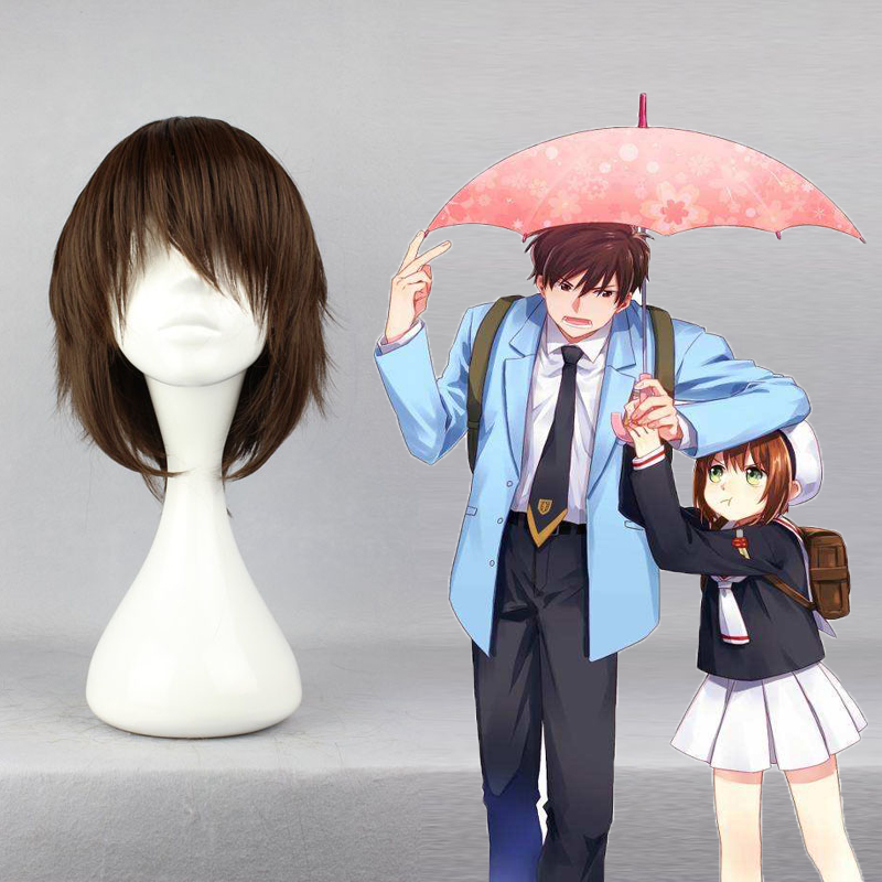 Anime Cardcaptor Sakura Cosplay Wig Touya Kinomoto Cosplay Wigs Heat Resistant Synthetic Halloween Carnival Party Unisex Hiar