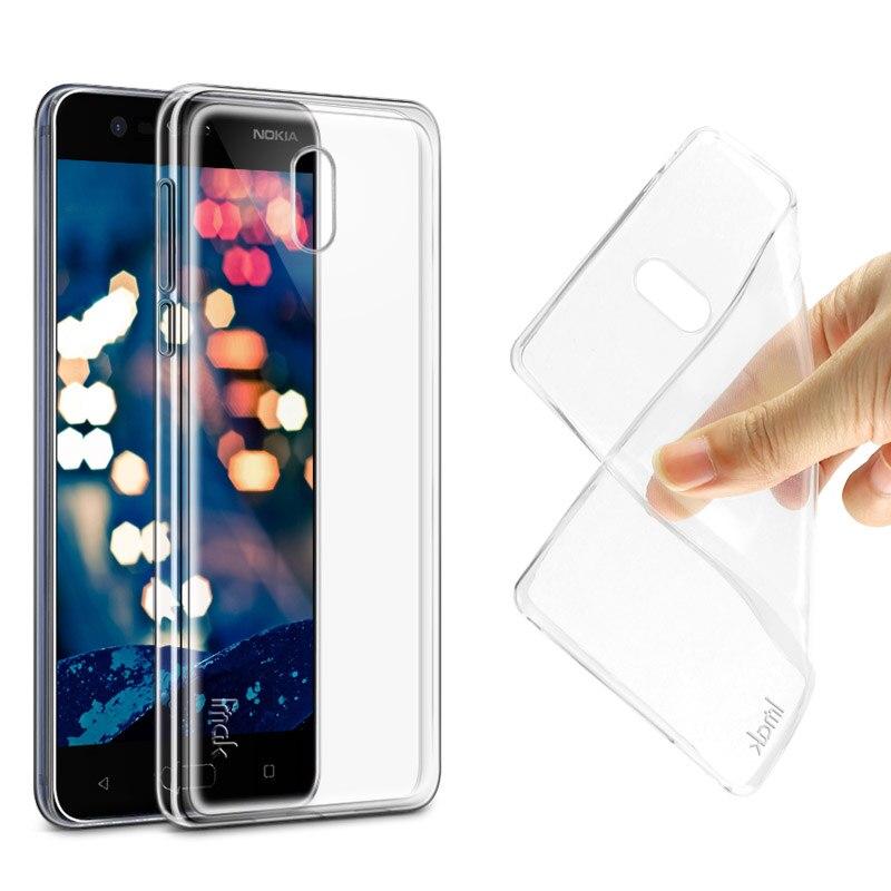 Imak ультра тонкий мягкий чехол для Nokia 3 прозрачная задняя крышка кожи для Nokia 3 dual sim силиконовый чехол + Экран Плёнки и Вышивка Крестом Пакет
