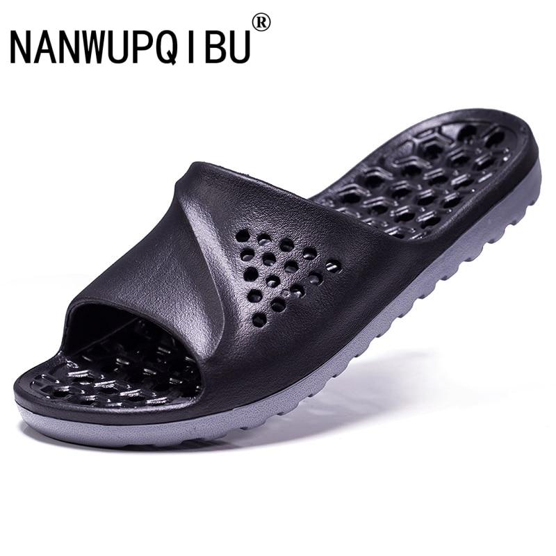 Summer Mens leather Beach Slipper Sandals Slip On Casual Soft Bottom Flip Flops