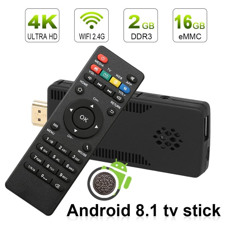 Leelbox tv bâton android tv box android 8 1 4 k tv box android 8.1 2 gb RAM 16 gb RK3229 Quad Core wifi mini pc bâton HD TV Dongle
