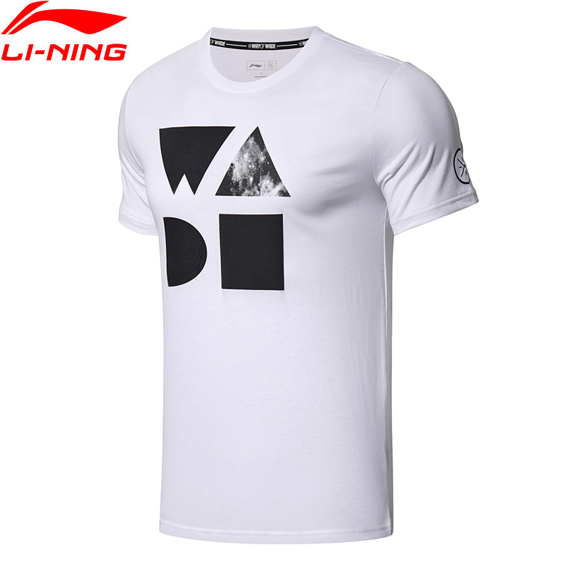 Li-Ning Men Wade Series T-Shirt Breathable 100% Cotton Regular Fit Comfort Jerseys LiNing Sports T-shirt AHSN061 MTS2765 t shirt adidas cw1989 sports and entertainment for men