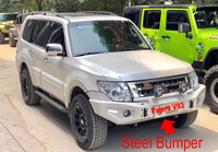 Pajero V93 Steel Front Bumper With Winch Bracket