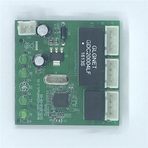 Image 1 - OME 3 Ports Switch module PCBA 4 Pin Header UTP PCBA Module with LED Display Screw hole positioning Mini PC  Data OEM Factory