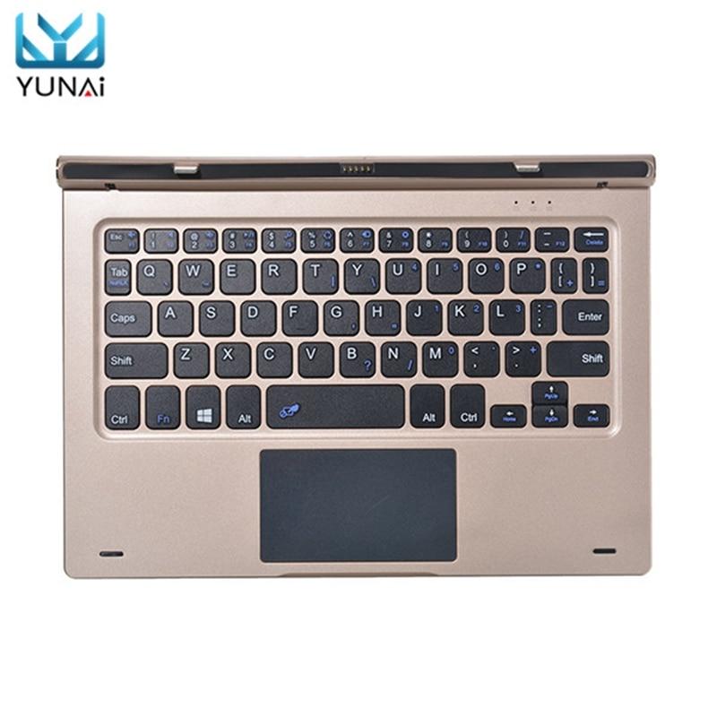YUNAI Adjustable Magnetic Suction Keyboard Docking Port for Teclast Tbook 10 S Original Keyboard Case For Teclast 10.1inch removable magnetic docking touchpad keyboard case for teclast x16