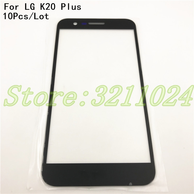 10Pcs/Lot For <font><b>LG</b></font> <font><b>K20</b></font> <font><b>Plus</b></font> V VS501 Front Glass Touch <font><b>Screen</b></font> Outer Panel Lens Repair <font><b>Replacement</b></font> Part image