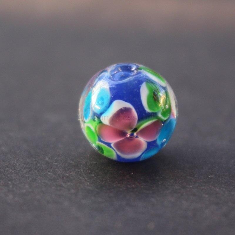 10pcs 12mm Handmade Fine Glass Lampwork Beads Flower