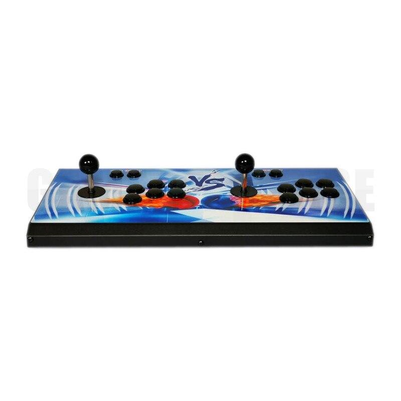 metal case double player TV jamma arcade stick console with Pandora 9 1500 in 1 arcade