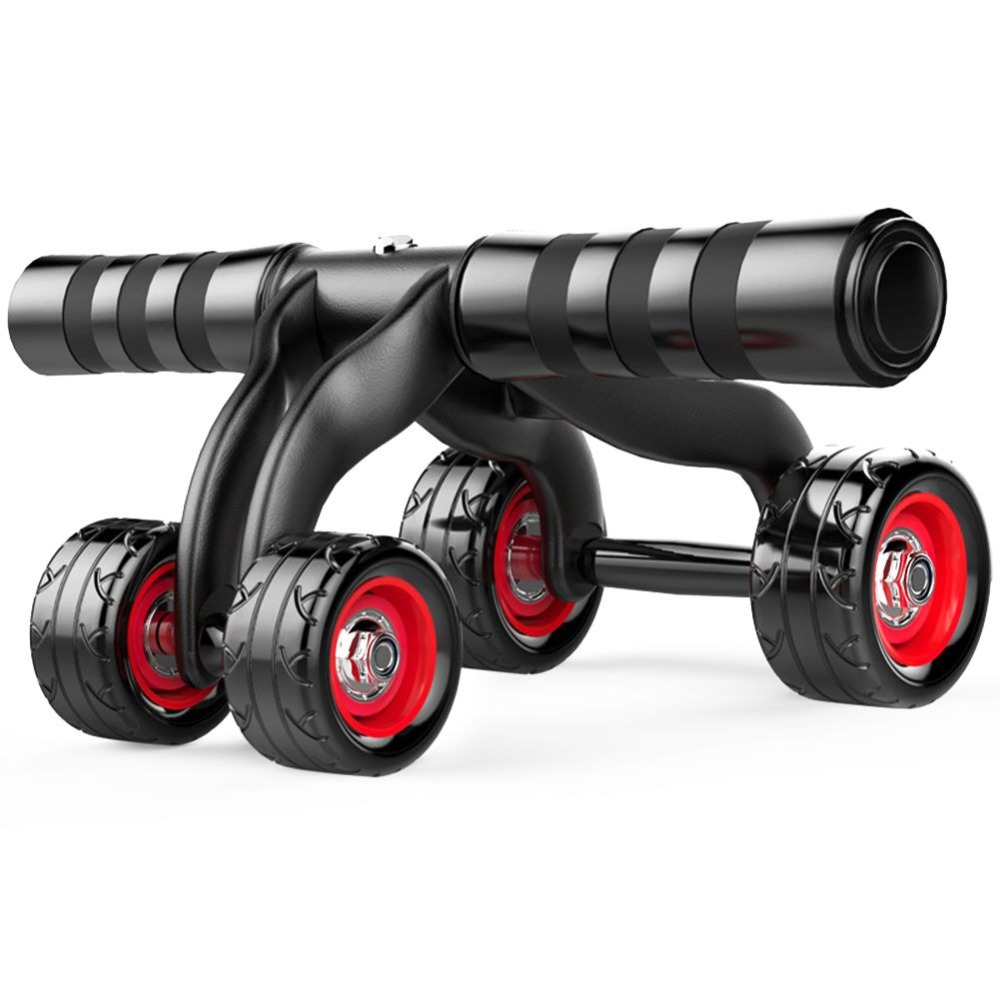 New 4 Wheels Fitness Abdominal Roller Belly Six Pack Workout Core Exercise Gym Bodybuilding Training Tool Home Fitness Equipment