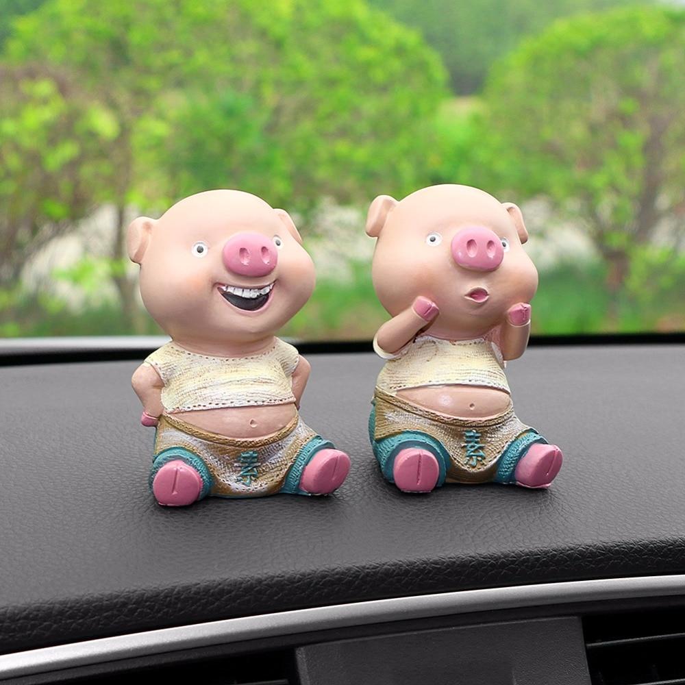2 PCS Cute Love Pig Doll Car Freshener Indoor Decoration Toys Fashion