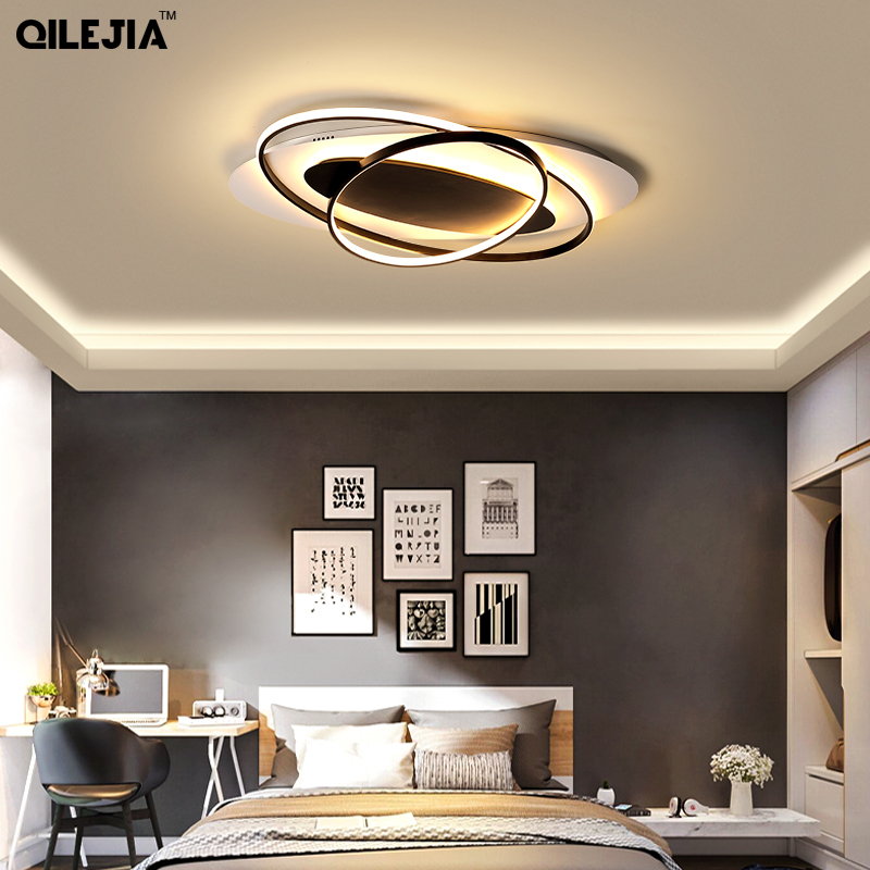 Creative fashion modern led chandelier foyer living room dining room bedroom study black and white aluminum chandelier lightCreative fashion modern led chandelier foyer living room dining room bedroom study black and white aluminum chandelier light