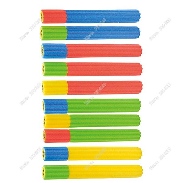 Популярный стиль мягкая тара для воды из материала EVA Пистолет Бластер шутер супер пушка игрушка для бассейна для детей Водяные Пистолеты водяная стрелялка летние игрушки для бассейна - Цвет: Random color 1pcs
