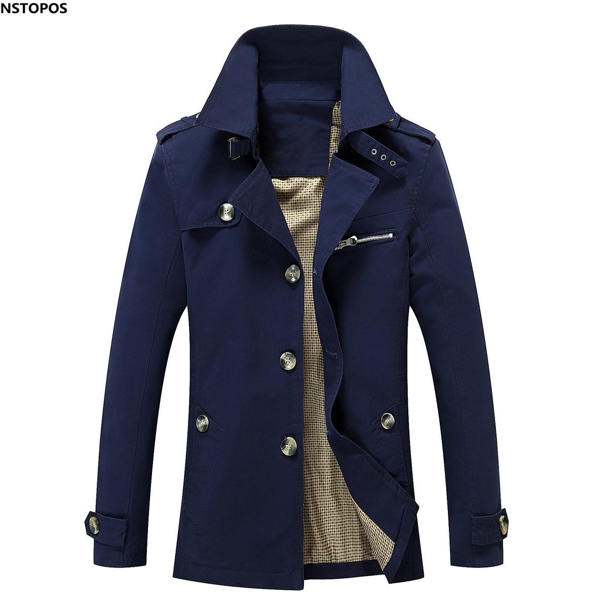 Online Get Cheap Pea Coat Trench Long Jackets Coats for Men ...