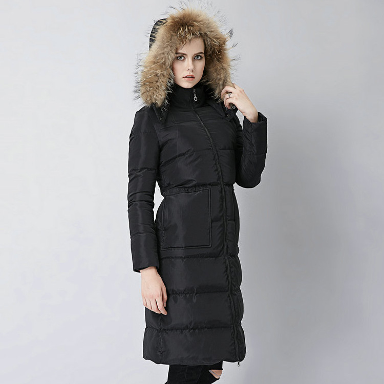 2016 winter new products in Europe and the wind really hooded racoon fur collar slim padded knees and long parka coat women natalie schoon modern islamic banking products and processes in practice