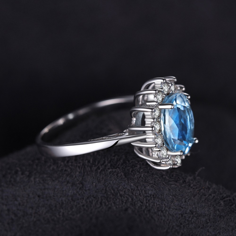 SmyckenPalace Princess Diana William Kate 2.3ct Natural Blue Topaz - Fina smycken - Foto 4